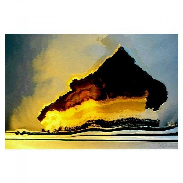 Ocean Vulkan Land by Monika Bendner Creative photography on canvas 90 x 60 cm.