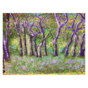 Purple Trees by Maribel Matthews